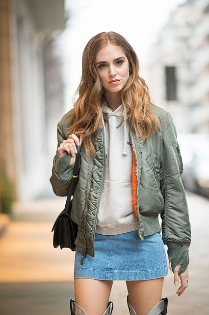 fashion blogger chiara ferragni bomber jacket