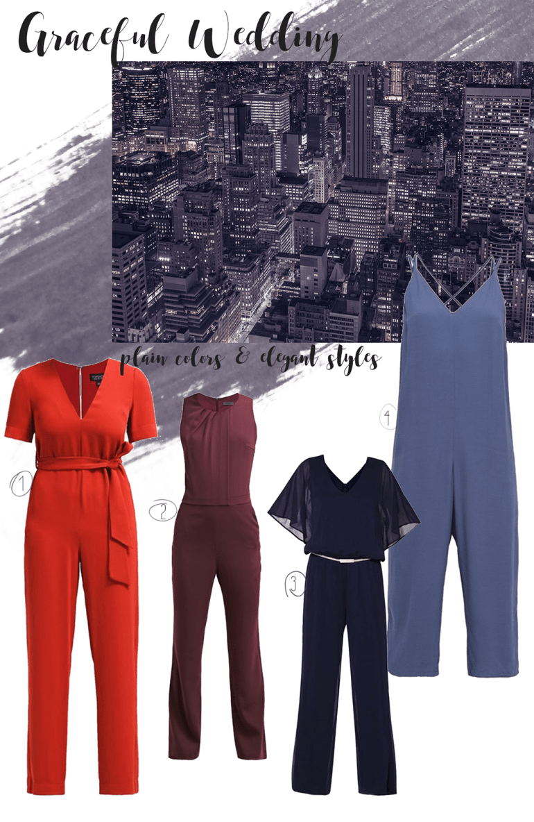jumpsuits for a graceful wedding