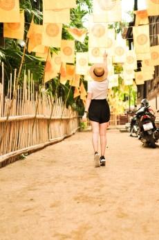 Chiang Mai Thailand Temple Girl