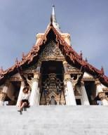 Bangkok Lifestyle Tempel Backpacker Girl