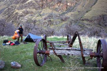 Campsite near Saddle Creek