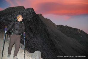 Todd Arndt at dusk, Mather Pass, Kings Canyon N.P.
