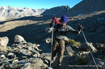 Mark hiking to Pinchot Pass, Kings Canyon N.P.,