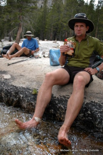 Soaking feet, Silver Pass Creek, John Muir Wilderness, High Sierra