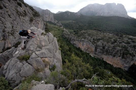 Below Puig Campana, Aitana Mountains.