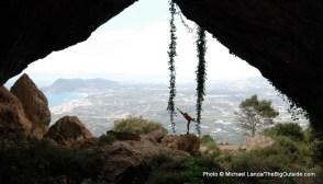 The cave opening at Bernia Ridge.
