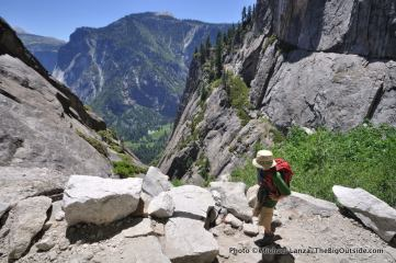Upper Yosemite Falls Trail.