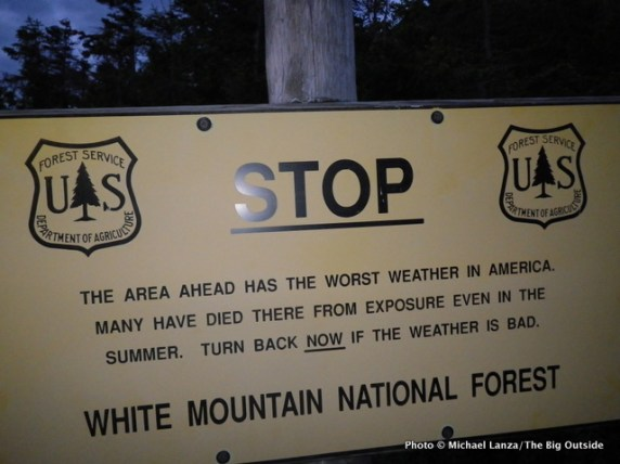Weather warning sign