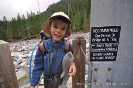 Nate at the Carbon River bridge.
