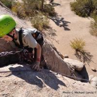 Rock climbing in Joshua Tree.