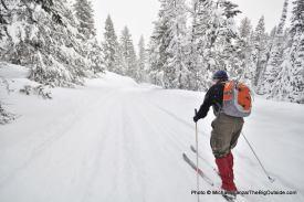 Skiing the Beaver Trail.