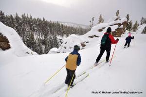 Virginia Cascades ski trail, Yellowstone