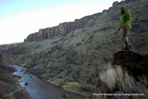 Above the Owyhee River Canyon.