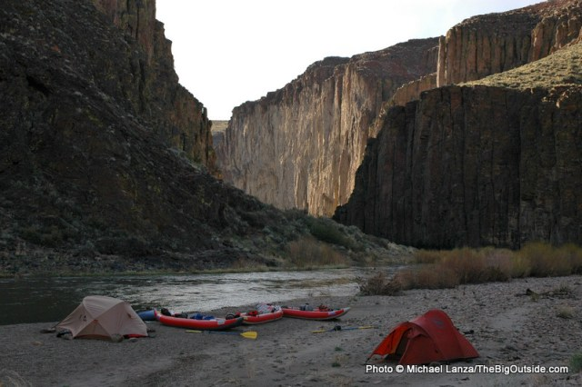 Campsite on East Fork Owyhee River.