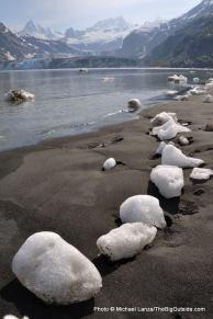 Black sand beach, Johns Hopkins Inlet