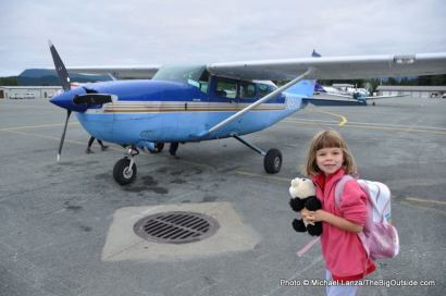 Our 6-seater plane, Juneau airport