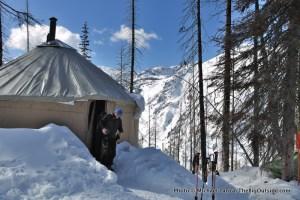 """Yurtstar Gallactica,"" the yurt in Norway Basin, in Oregon's Wallowa Mountains."
