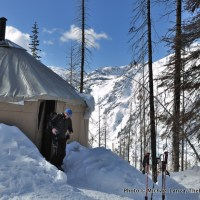 """Yurtstar Gallactica,"" the yurt in Norway Basin, in Oregon's Wallowa Mountains."