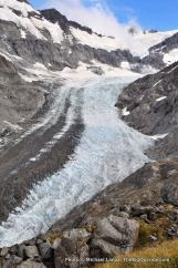 Above the Dart Glacier, Cascade Saddle route.