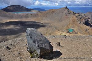 Blue Lake (left) and one Emerald Lake, Tongariro National Park.