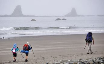 On the beach near the Hoh River, Olympic coast.