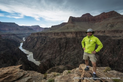 At an overlook east of Salt Creek, on a 25-mile dayhike in the Grand Canyon.