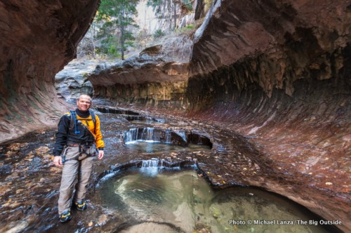 In The Subway, Zion National Park, Utah.