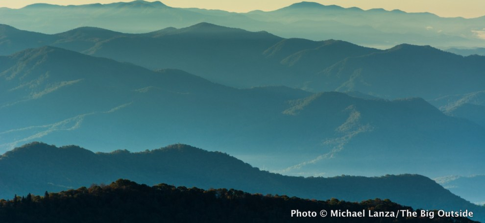 View from Appalachian Trail in Great Smoky Mountains National Park.