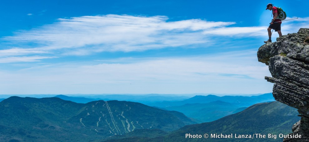 Hiker on Mount Madison, Presidential Range, N.H.