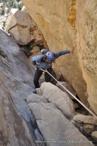 Rappelling near the Golden Throne.