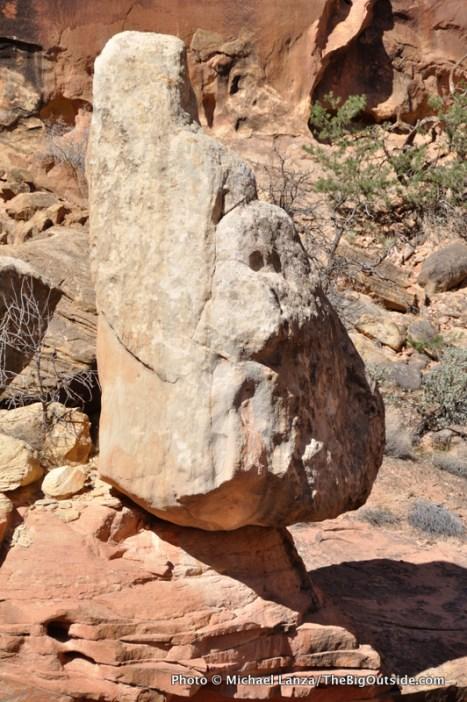 Balanced rock, Spring Canyon.