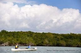 Canoeing Indian Key Pass, Ten Thousand Islands, Everglades National Park.