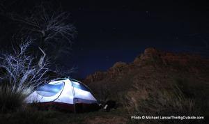 Cottonwood Creek campsite, Grand Canyon.