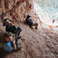 Cave along South Kaibab Trail, Grand Canyon.