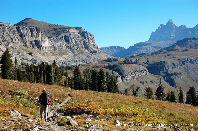 The Teton Crest Trail on Death Canyon Shelf.