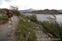 Hiking to Lago Grey.