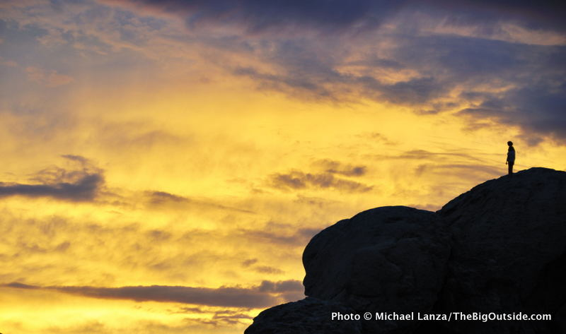 Sunset at Idaho's City of Rocks National Reserve.