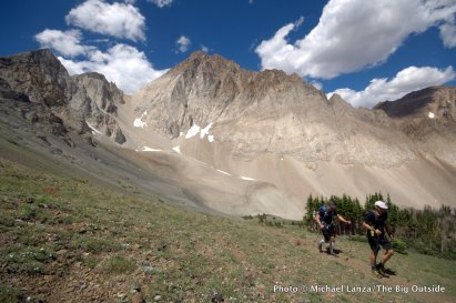Scott White and Chip Roser on a 28-mile dayhike through Idaho's White Cloud Mountains.