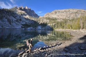 Bench Lakes and Mt. Heyburn, Sawtooths.