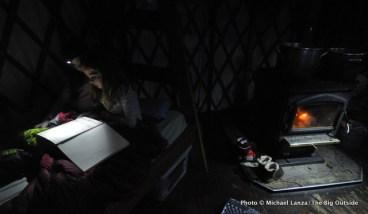 Inside Skyline yurt.