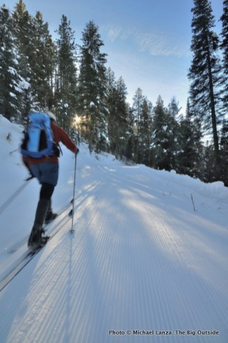 Skiing the Beaver Trail.