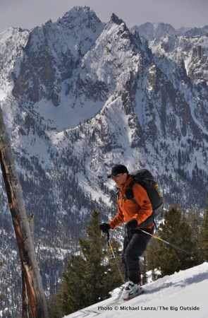 Skiing The Triangle on Mt. Heyburn.