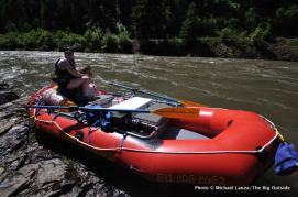 At the put-in, Wallowa River, Oregon.