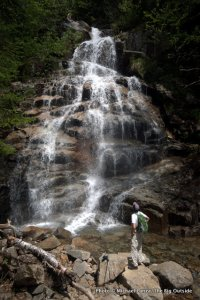 Mark Fenton on the Falling Waters Trail, Franconia Notch, N.H.