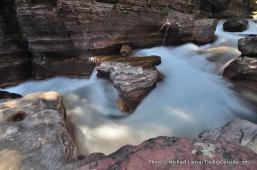 Deadwood Falls, on Gunsight Pass Trail.
