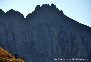 Backpacker, Highline Trail, Glacier National Park.
