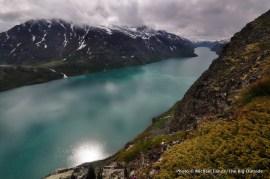 Lake Gjende from Besseggen Ridge