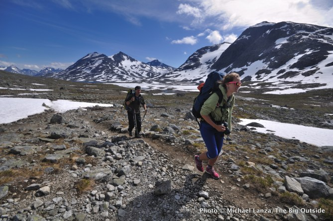 Trekking in Jotunheimen National Park, Norway.