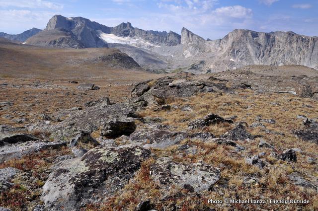 The Lizard Head Plateau in the Wind River Range.