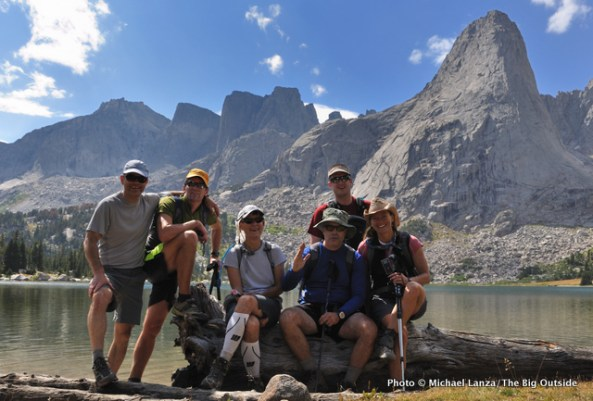 At Lonesome Lake, Cirque of the Towers.